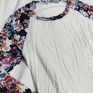 Maternity slub 3/4 length T-shirt - size small